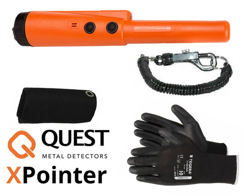 Quest Xpointer Pinpointer Orange + Zubehör